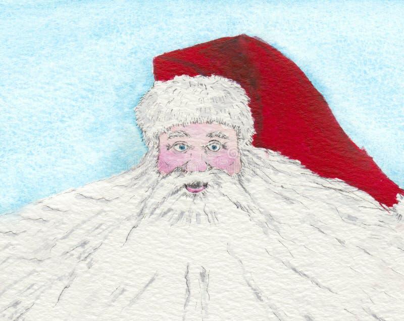 De baard van de kerstman vector illustratie