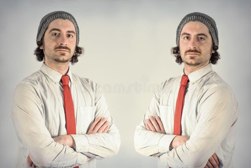 De Baarden van tweelingenmensen royalty-vrije stock foto's