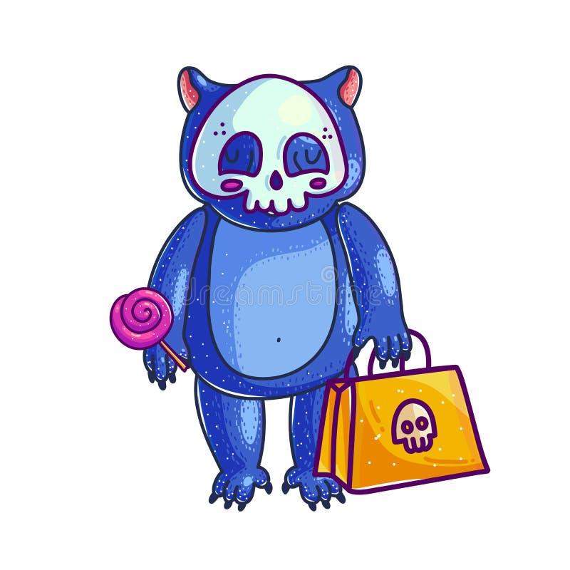 De baby draagt in Halloween-kostuum vector illustratie