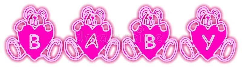 De baby draagt Roze vector illustratie