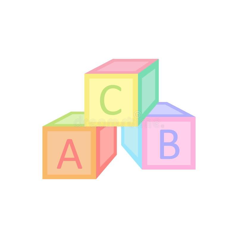 Download De Baby Kubeert Stuk Speelgoed Vector Grafische Illustratie Vector Illustratie - Illustratie bestaande uit achtergrond, onderwijs: 107702889