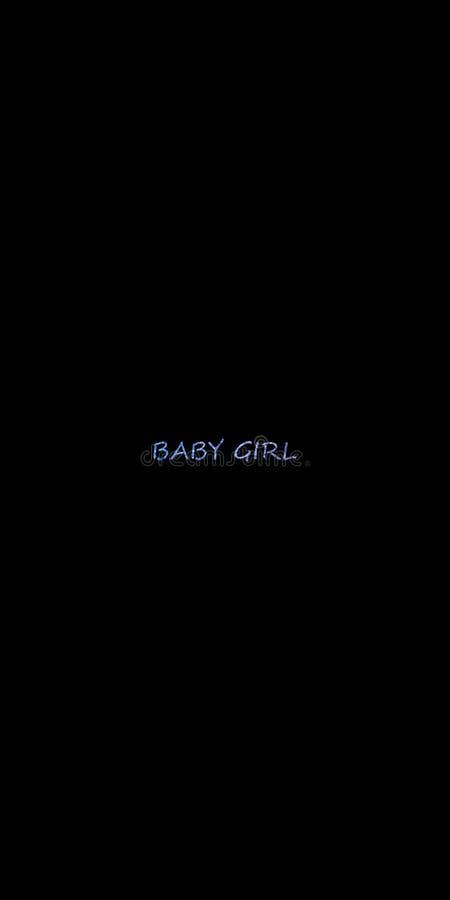 De BABY meisje-inspireert motievencitaat Hand het getrokken mooie van letters voorzien Druk voor inspirational affiche stock illustratie