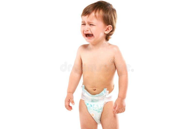 De baby schreeuwt royalty-vrije stock afbeeldingen