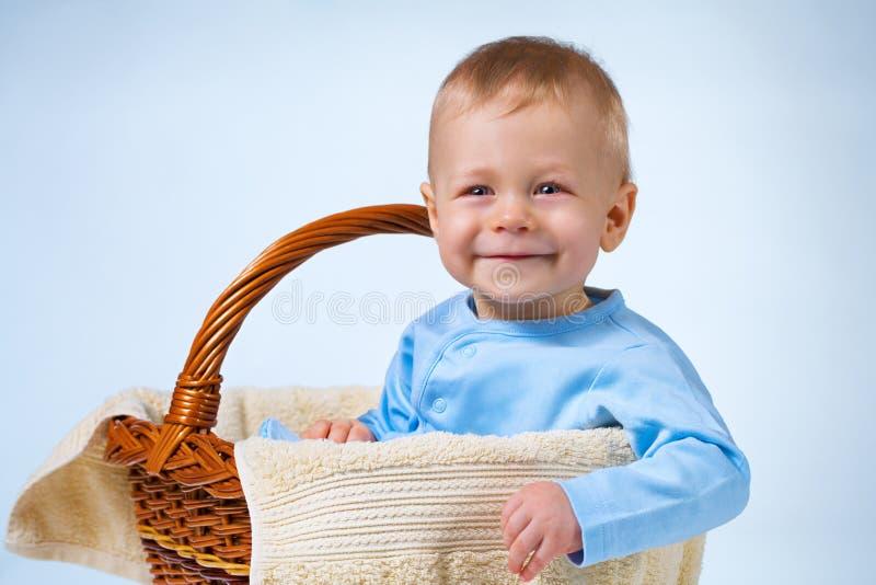 De baby van acht maanden stock afbeeldingen