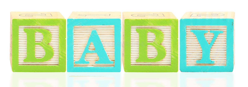 De BABY van de Blokken van het alfabet stock foto