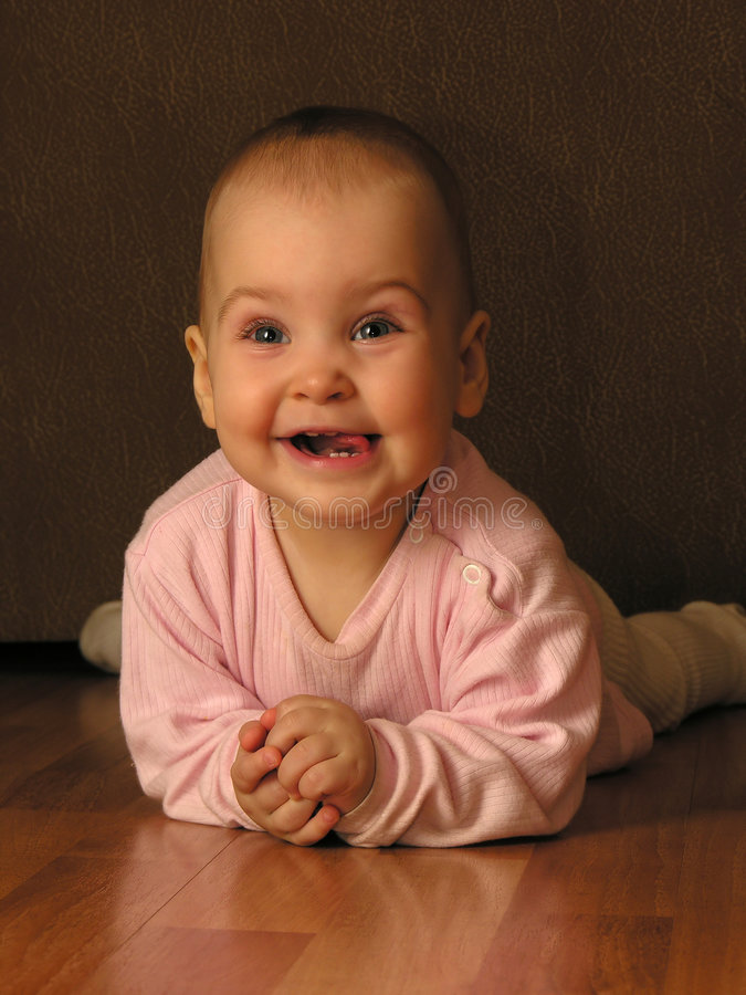 De baby van de glimlach royalty-vrije stock afbeelding