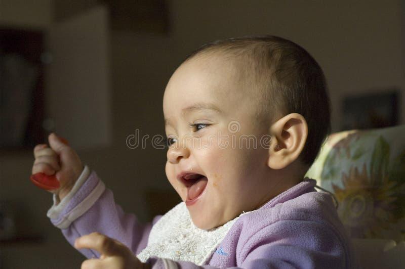 De baby van de havermoutpap royalty-vrije stock afbeelding