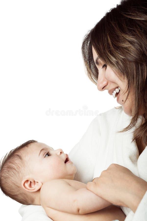 De Baby van de moederholding met Liefde royalty-vrije stock afbeelding