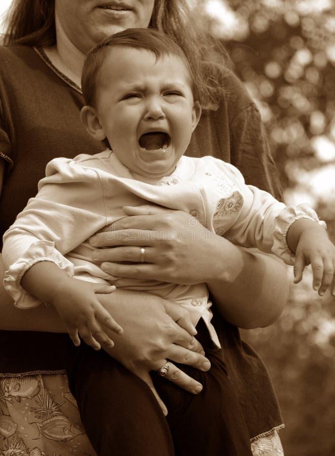De Baby van de schreeuw royalty-vrije stock foto