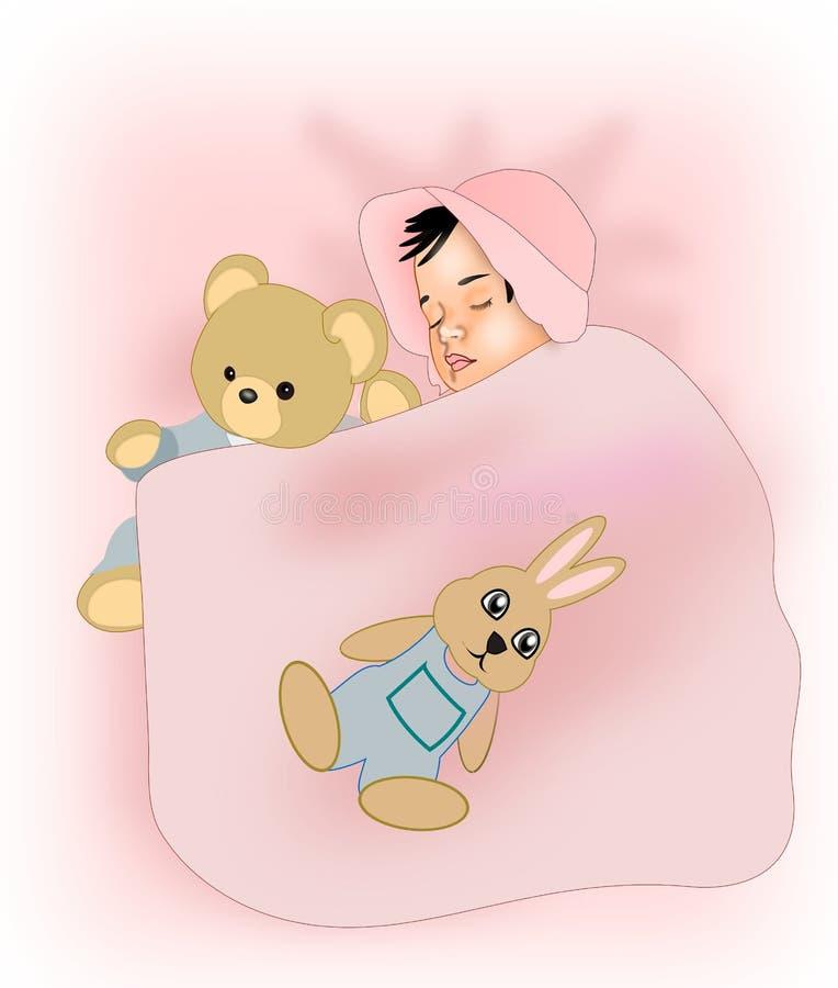 De Baby van de slaap vector illustratie