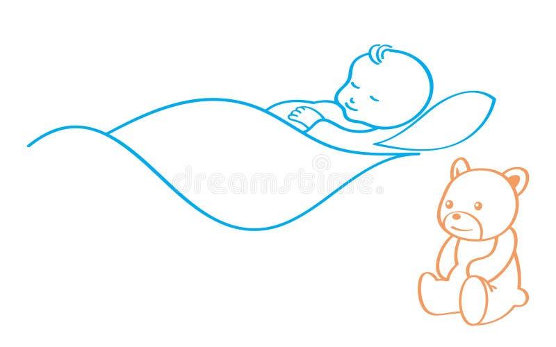 De baby van de slaap royalty-vrije illustratie