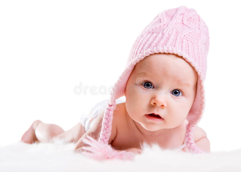 De Baby van de winter royalty-vrije stock afbeelding