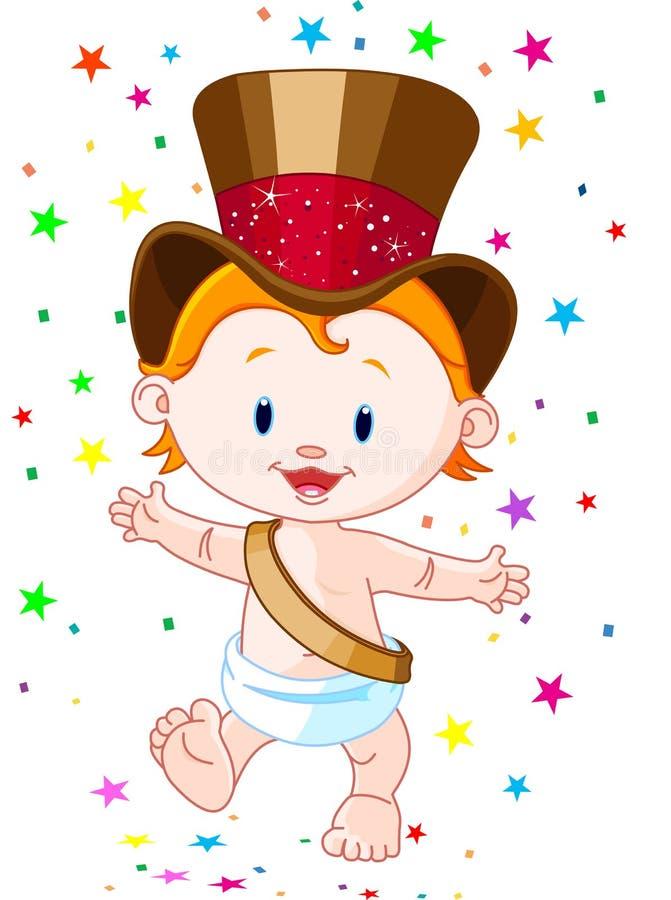 De baby van het nieuwjaar stock illustratie