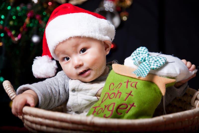 De baby van Kerstmis royalty-vrije stock afbeelding
