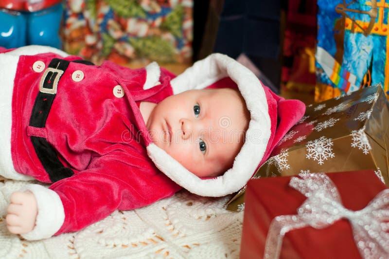 De baby van Kerstmis stock fotografie
