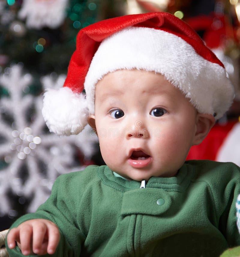 De baby van Kerstmis royalty-vrije stock fotografie