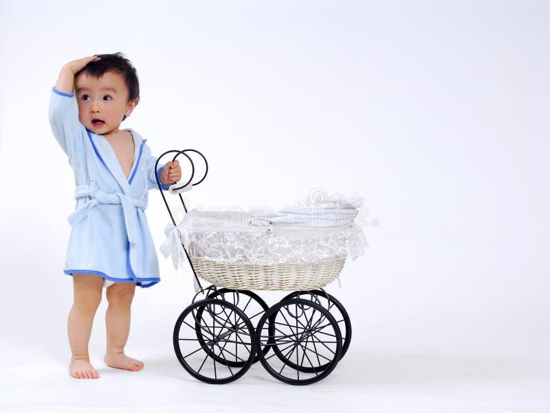 De babyjongen van Asain stock fotografie