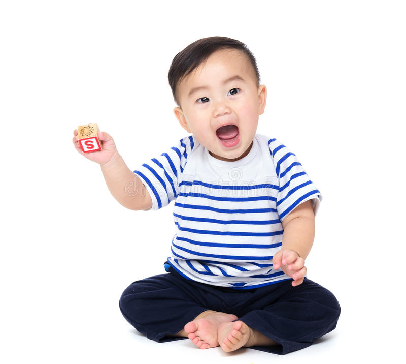 De babyjongen van Azië royalty-vrije stock fotografie