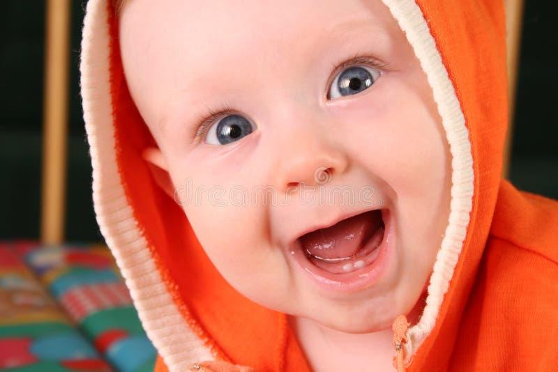 De babyjongen van de glimlach royalty-vrije stock afbeeldingen