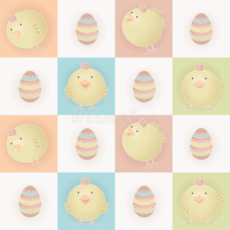 De babykuikens van Pasen vector illustratie
