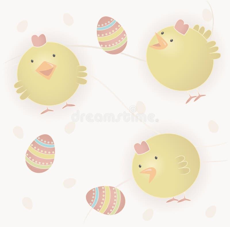 De babykuikens van Pasen royalty-vrije illustratie
