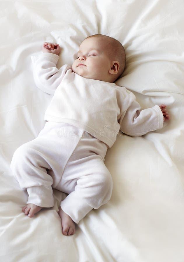 De babymeisje van de slaap royalty-vrije stock afbeelding