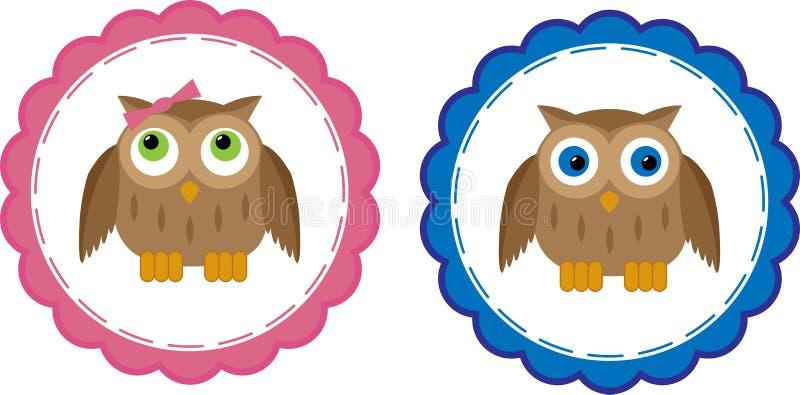 De Babys van de uil stock illustratie