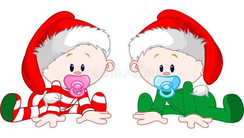De Babys van Kerstmis royalty-vrije illustratie
