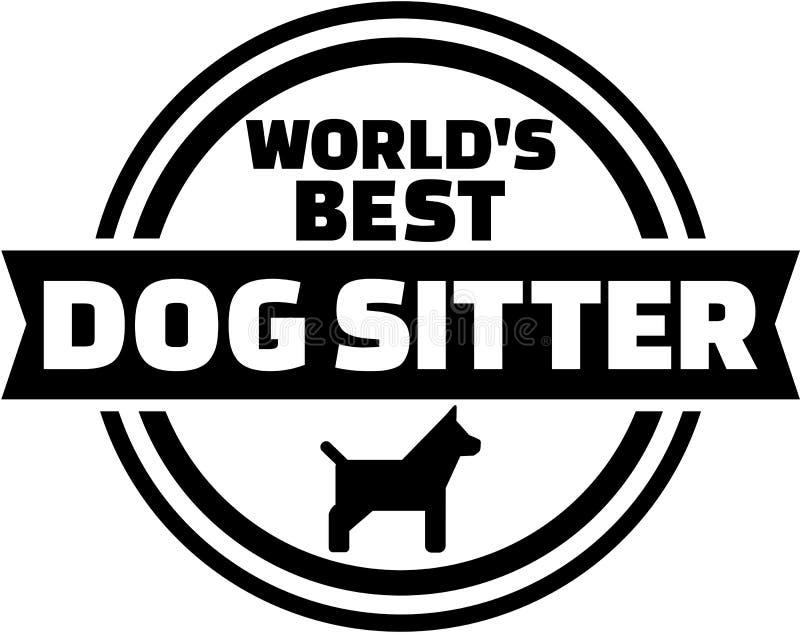 De babysitterknoop van de wereld` s beste hond vector illustratie