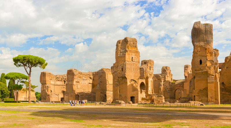De baden van Caracalla in Rome, Italië stock foto