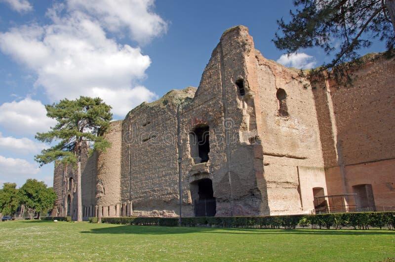 De baden van ruïnes Caracalla stock foto's
