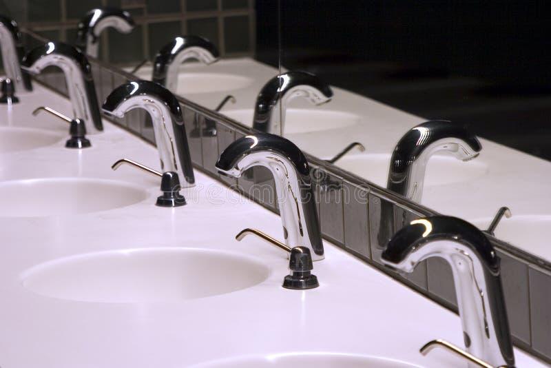 De badkamers daalt 1 stock foto