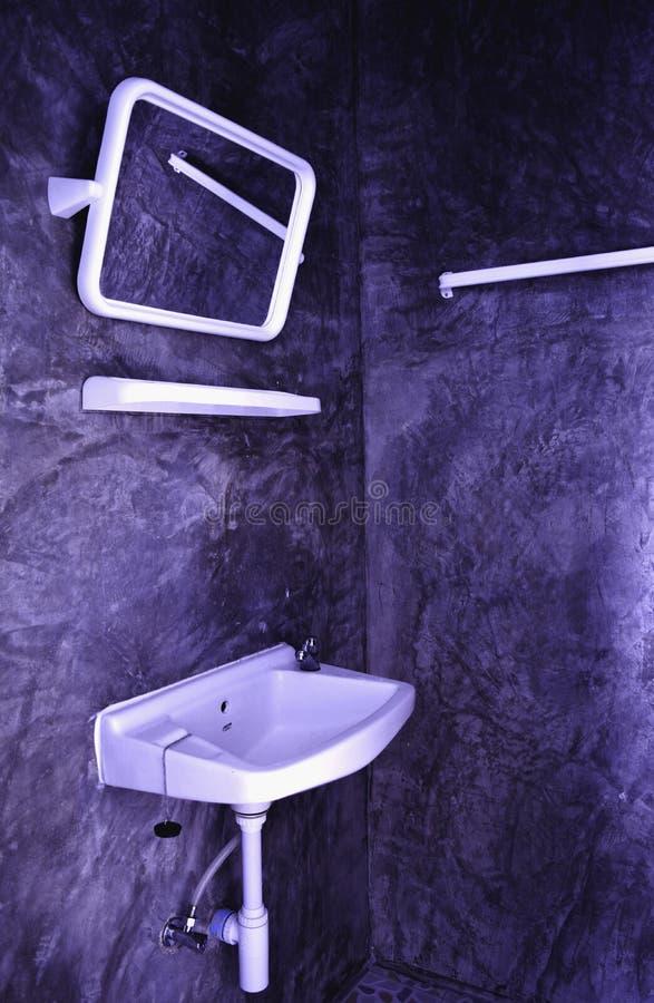De badkamers in het hotel is verfraaid stock foto's