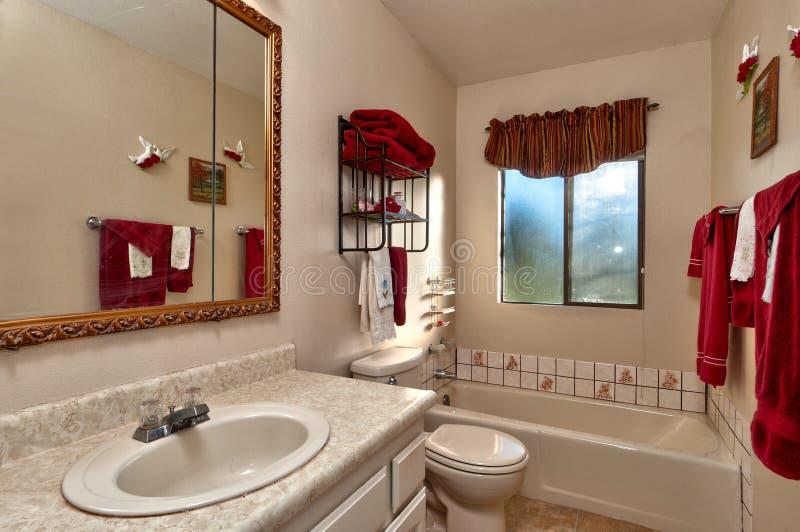 De badkamers van de gast stock foto