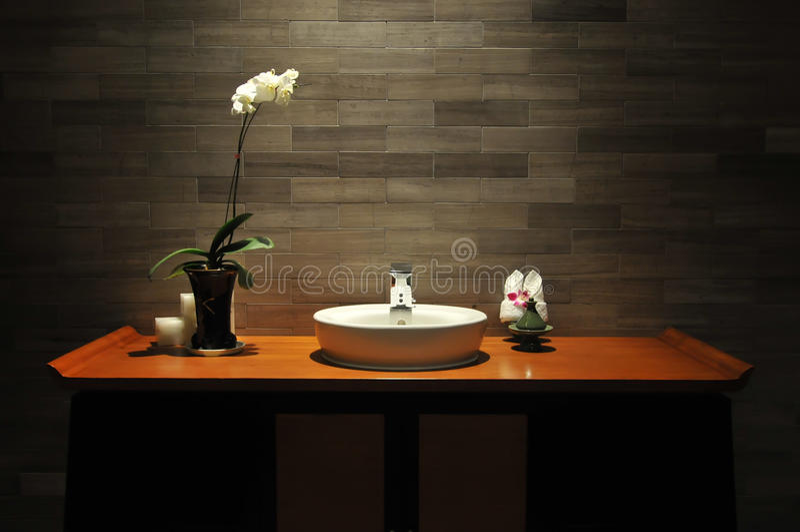 De badkamers van de luxe royalty-vrije stock afbeelding