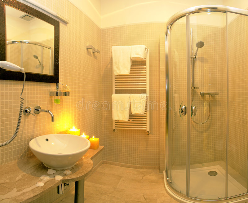 De badkamers van de luxe royalty-vrije stock foto