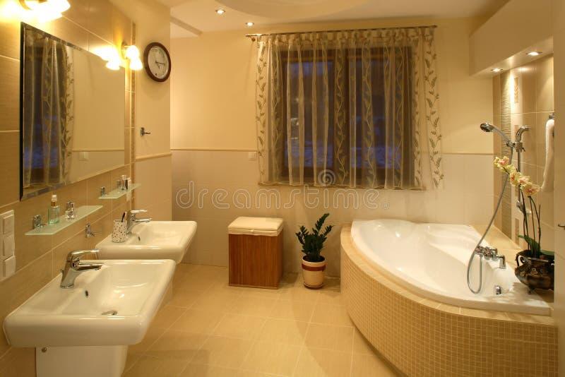 De badkamers van het huis   royalty-vrije stock afbeeldingen