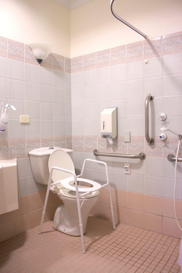 De Badkamers van het ziekenhuis stock afbeeldingen