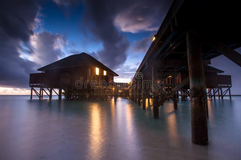 De badkamers van maidives royalty-vrije stock fotografie