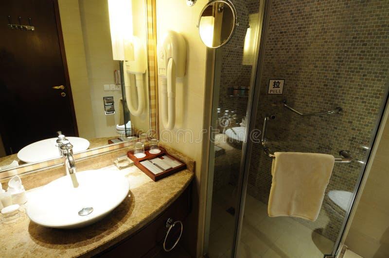 De badkamersbinnenland 12 van het hotel royalty-vrije stock foto's