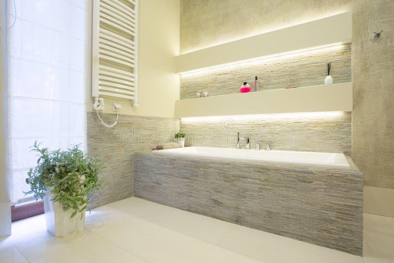 De badkuip van de luxesteen royalty-vrije stock afbeeldingen