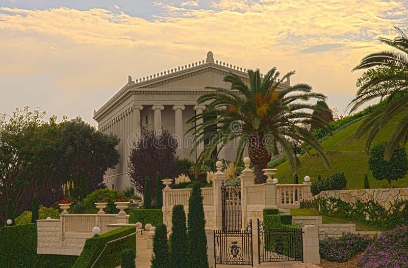 De Bahai-tuinen, Haifa stock afbeeldingen