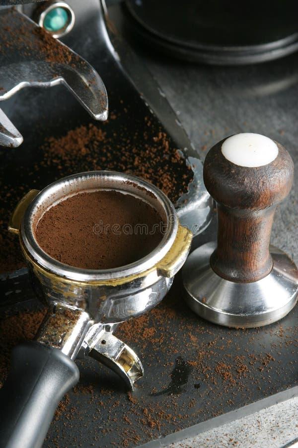 De Bajonet van de Espresso van Tamped stock foto's
