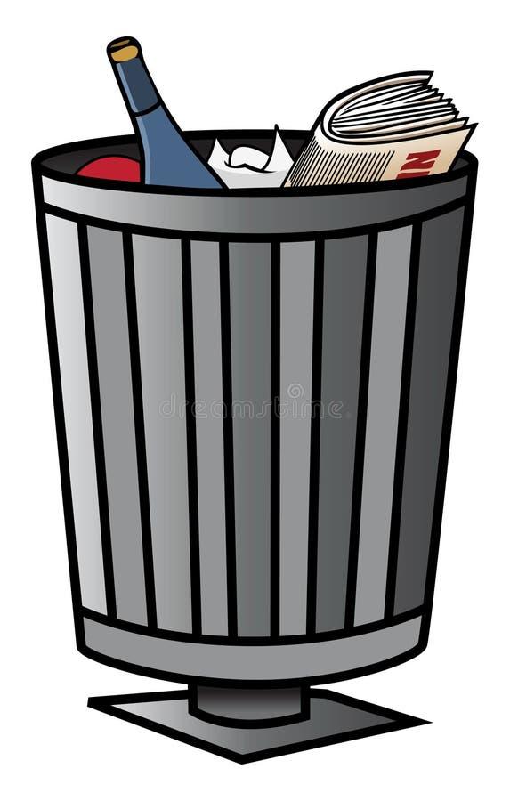 De bak van het afval vector illustratie