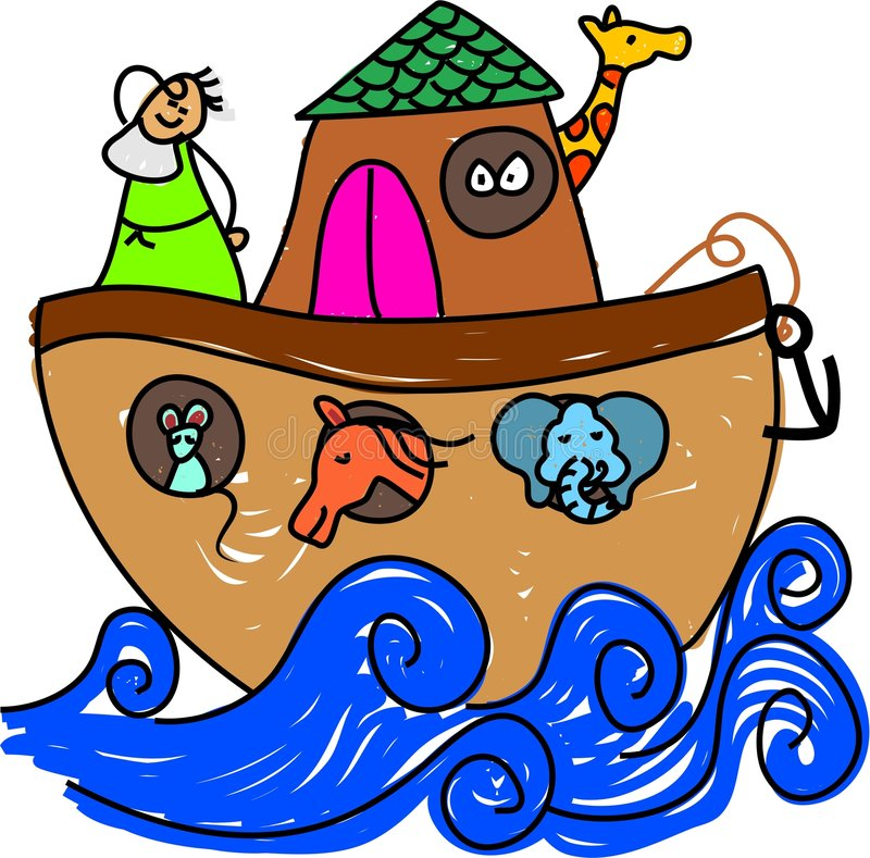De bak van Noahs vector illustratie