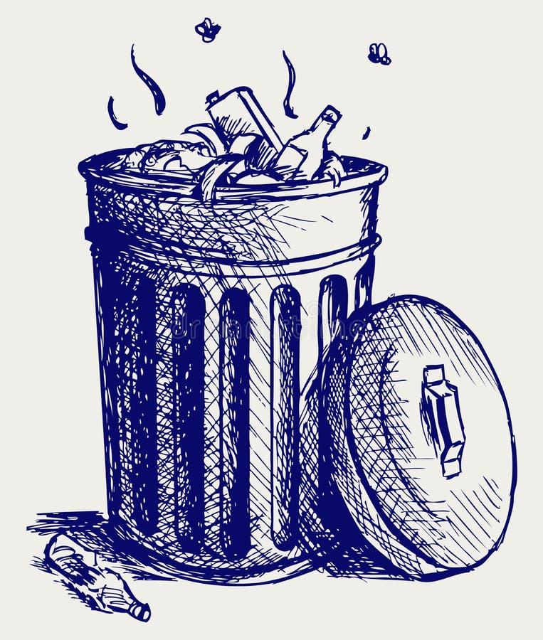 De bakhoogtepunt van het afval van huisvuil royalty-vrije illustratie