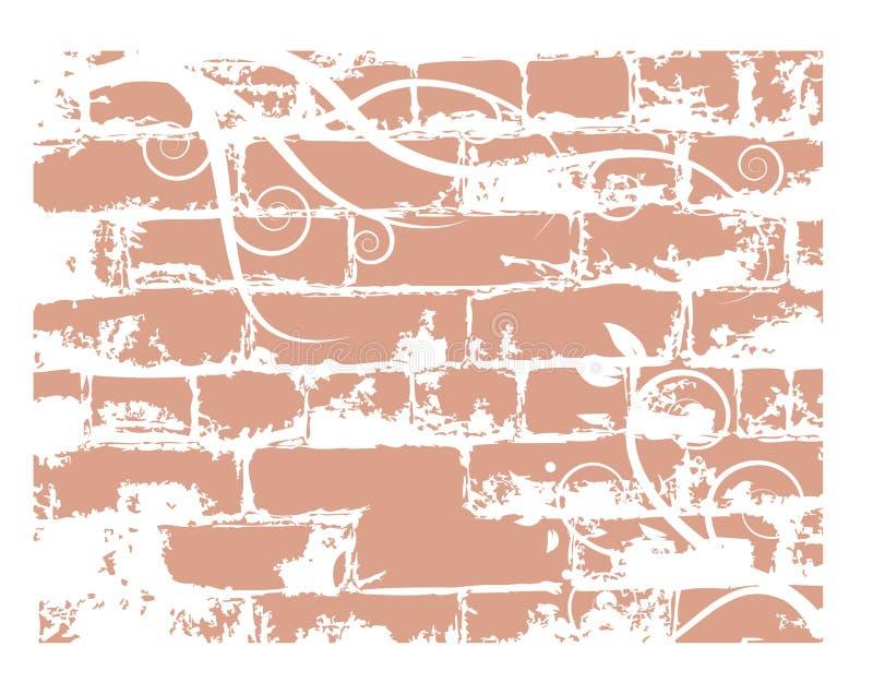 De baksteen van de muur, grunge achtergrond stock illustratie