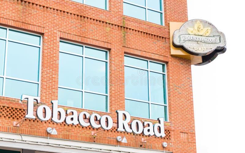 De baksteen van de de Sportenkoffie van de tabaksweg de bouwrestaurant royalty-vrije stock afbeelding