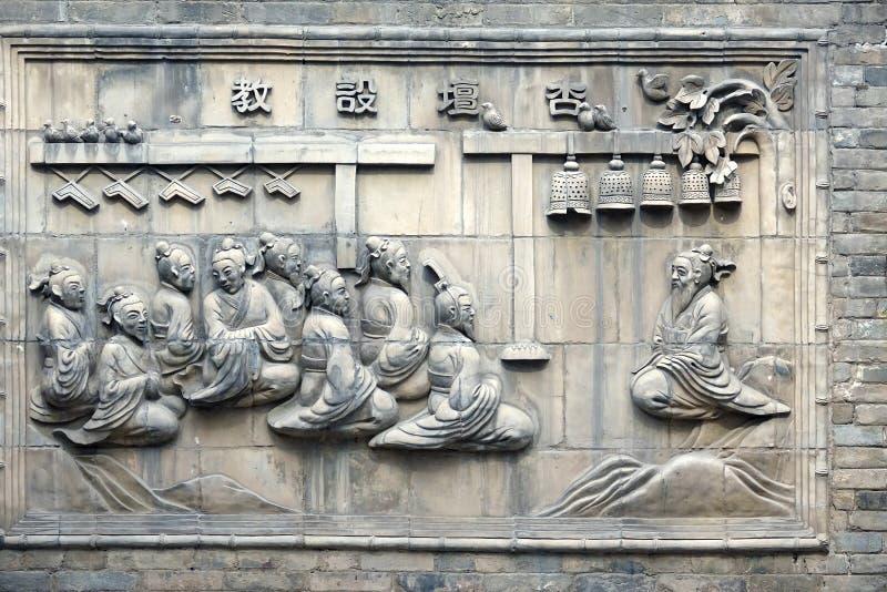 De baksteengravure van Chineses royalty-vrije stock afbeelding
