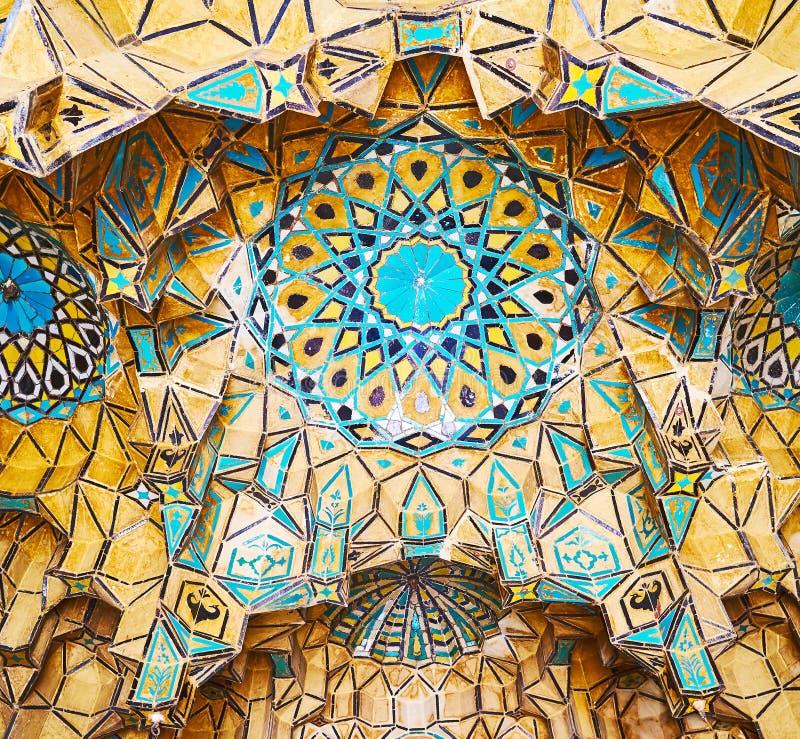 De baksteenkoepel op Qavam-Algemene Vergadering, Shiraz, Iran royalty-vrije stock afbeeldingen